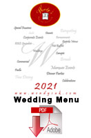 Wendy's Wedding Menu